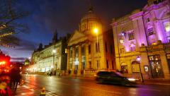 His Majesty's Theatre in Aberdeen time lapse footage Stock Footage