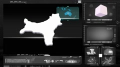 Christmas island - computer monitor - black 0 Stock Footage