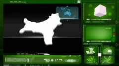 Christmas island - computer monitor - green 0 Stock Footage
