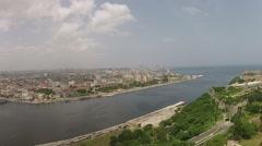 Aerial Havana Port Cuba, Canal de Entrada to Stock Footage