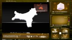 Christmas island - computer monitor - yellow 0 Stock Footage