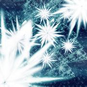 fractal flower snow storm - stock illustration