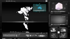 Faroe islands - computer monitor - black 0 Stock Footage
