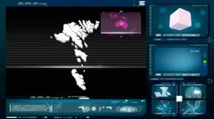 Faroe islands - computer monitor - blue 0 Stock Footage