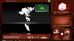 Faroe islands - computer monitor - red 0 Stock Footage