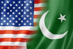 USA and Pakistan flag - stock illustration