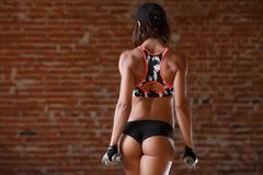 Sporty young woman - stock photo