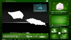 Samoa - computer monitor - green 0 Stock Footage