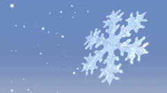 Snow Crystal and Snowfall - stock footage