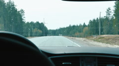 Driving a Car POV Windshield Stock Footage
