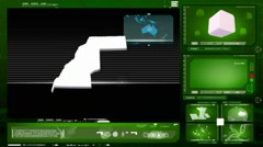 Western Sahara - computer monitor - green 0 Stock Footage