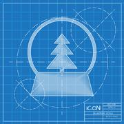Vector christmas icon Stock Illustration