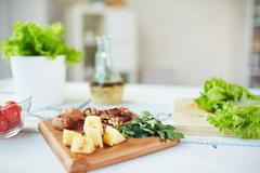 Food on table - stock photo