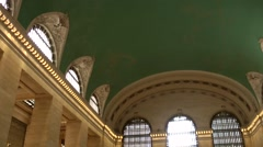 New York City 454 midtown Grand Central Terminal view under the vault Stock Footage