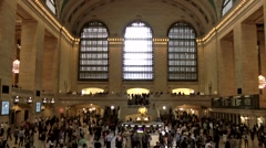 New York City 453 midtown inside main hall Grand Central Terminal Stock Footage