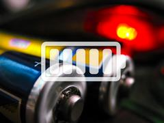 icon charged battery - stock illustration