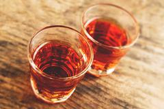 Stock Photo of alcoholic shot - tilt shift selective focus effect photo