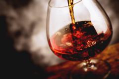 Bourbon glass - tilt shift selective focus effect photo Stock Photos
