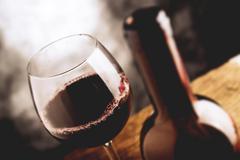 Fine wine - tilt shift selective focus effect photo Stock Photos