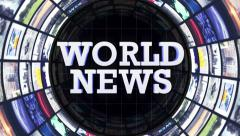 World News and Monitors Tunnel, Loop, 4k - stock footage