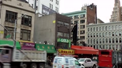 New York City 491 downtown Chinatown district; busy Canal Street Stock Footage