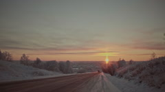 Winter in the Russian provinces Stock Footage