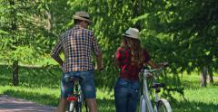 Bike Ride Connecting People Stock Footage