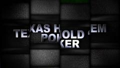 Stock Video Footage of Texas Hold'em Poker Text in Slot Machine Combination, Loop, 4k