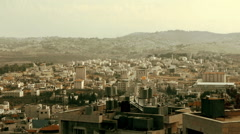Panoramic View to Bethlehem City, Palestine Stock Footage