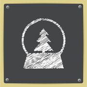 Vector christmas icon - stock illustration