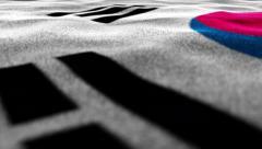 South Korea Textile Flag Background, 4k Stock Footage