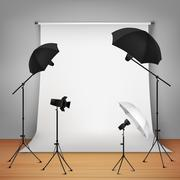 Photo Studio Design Concept - stock illustration