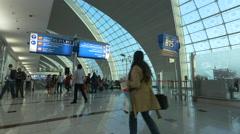April  Dubai Airport crowd Stock Footage