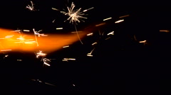 Holiday Sparkler. Stock Footage