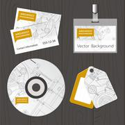 Set of corporate identity templates - stock illustration