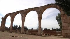 Anjar city ruins Stock Footage