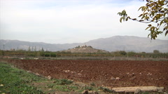 Zoom out farm palace in Anjar city  Stock Footage