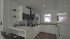 modern white kitchen - stock footage