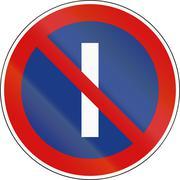 No Parking On Odd Calender Days in Slovenia - stock illustration