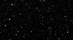 Fluffy Snowflakes Slowly Falling - Seamless Loop - Slow Motion - Motion Blur Stock Footage