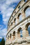 Ancient amphitheater in Pula Croatia Stock Photos