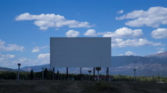 Colorado Drive-In during Day with Clouds Stock Footage
