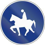 Slovenia road sign - Bridle way ahead Stock Illustration