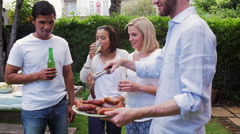 Stock Video Footage of weekend barbeque party