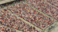 Crowds on a football stadium - stock footage