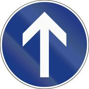 Slovenian mandatory direction sign - Go straight Stock Illustration