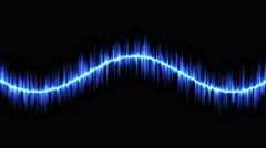 Audio Sound Sine Wave Animation - Loop Blue Stock Footage