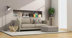 Contemporary living room Stock Illustration