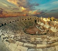 Stock Photo of Side antique amphitheatre fish eye top view