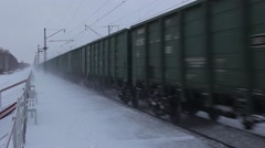 Railway Carriages in motion - stock footage